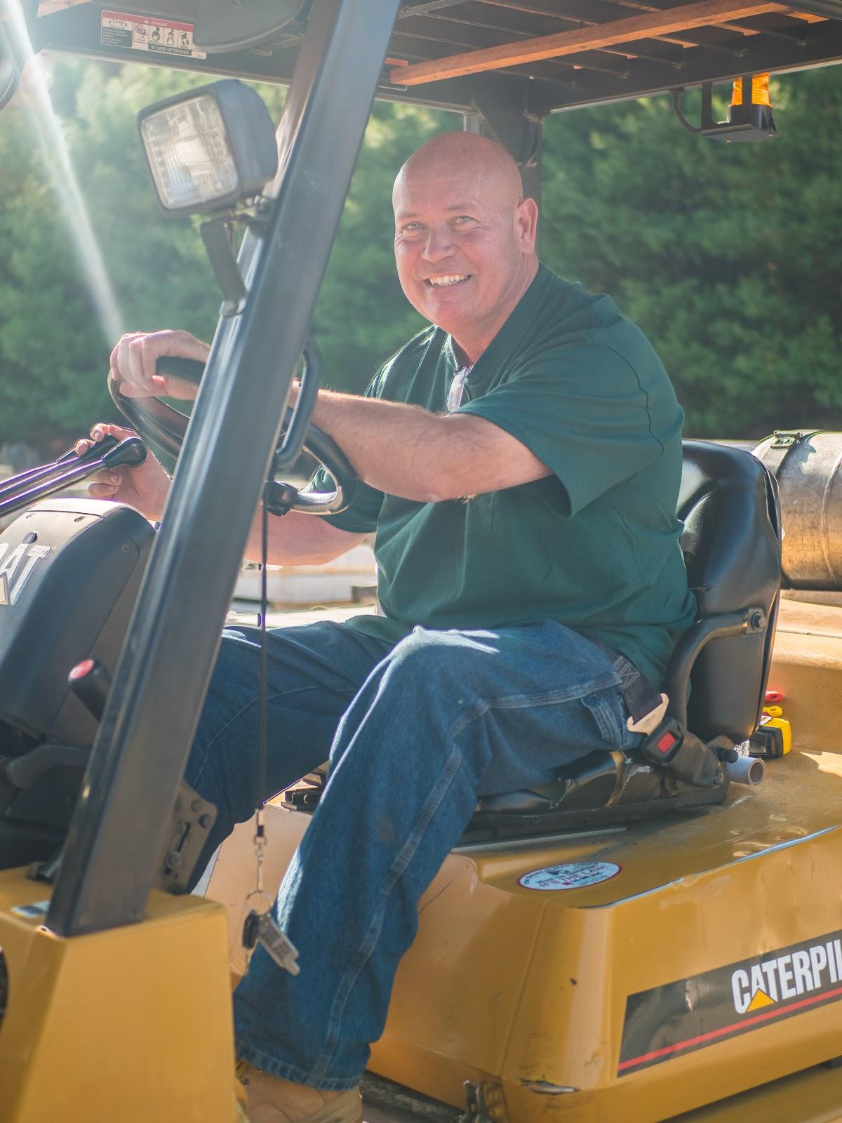 Photo of John Farrell, the yard foreman