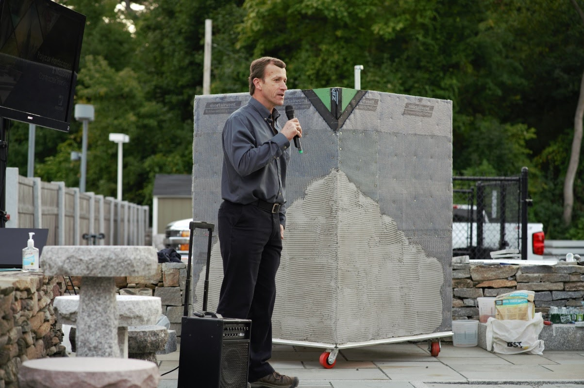 Swenson Granite Works Debuts Woodbury Gray Granite Thin Veneer with the Homebuilders Association of Western Massachusetts Association