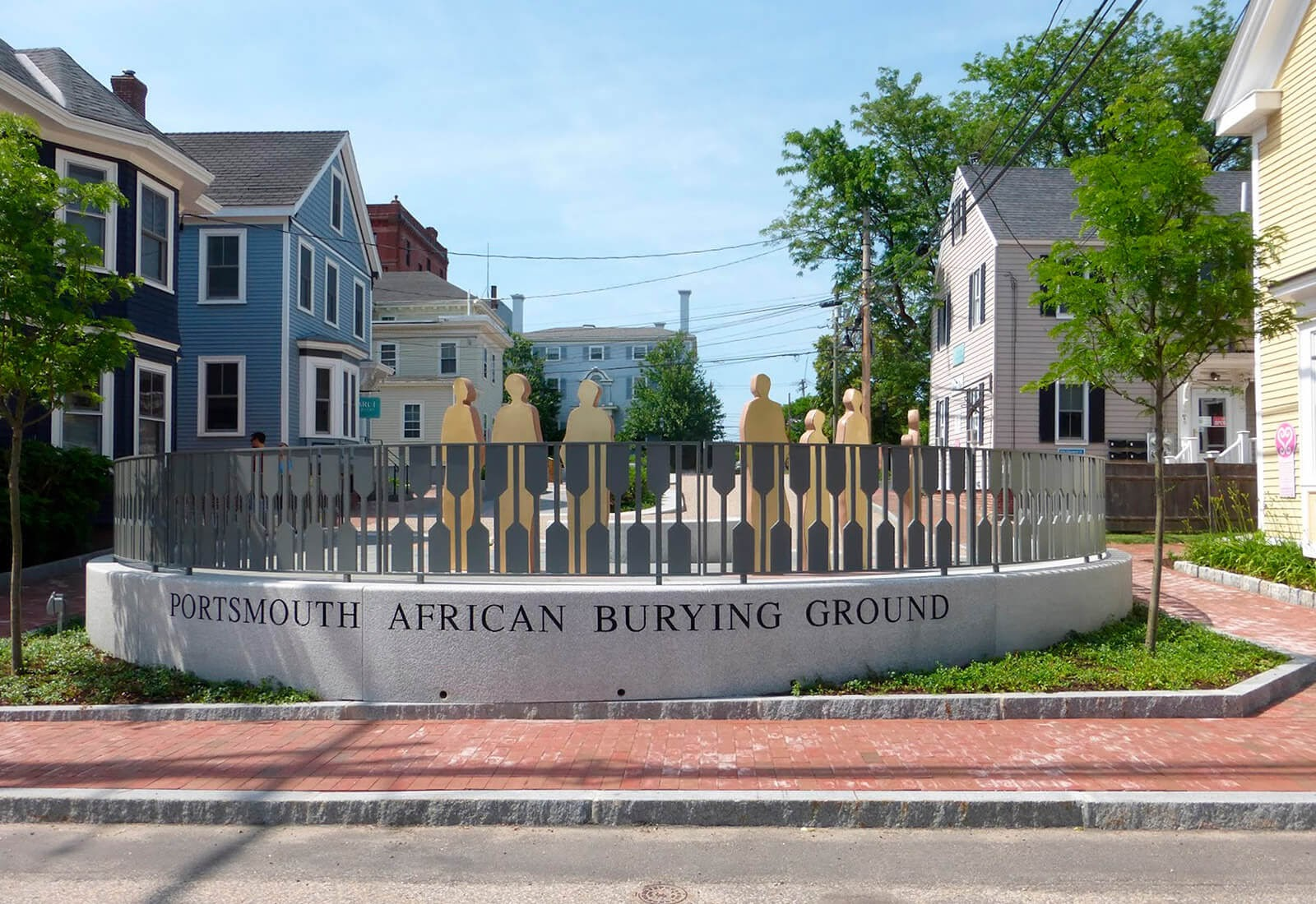 Portsmouth African Burying Grounds featuring granite from Swenson Granite Works