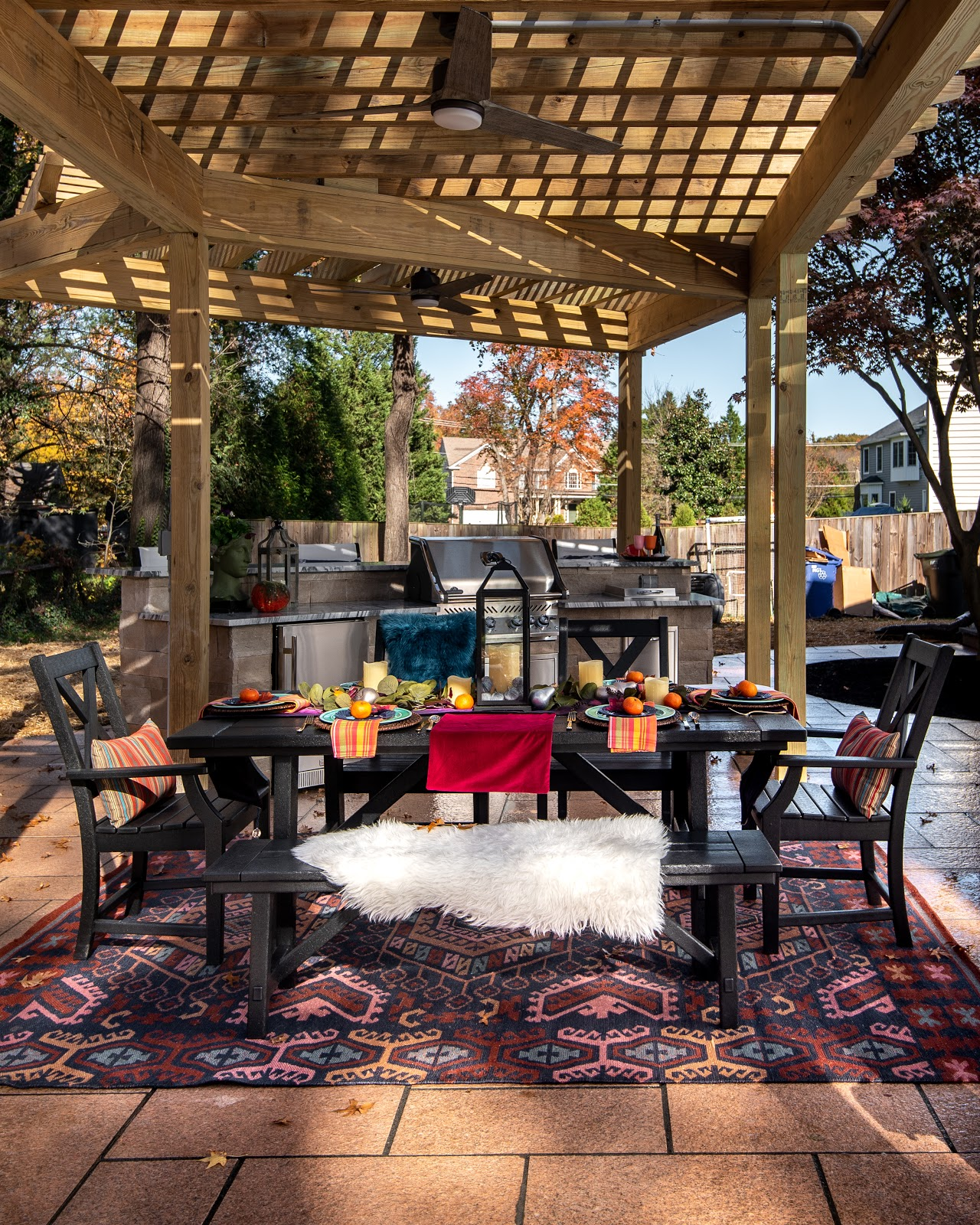 Outdoor living space using Polycor stone