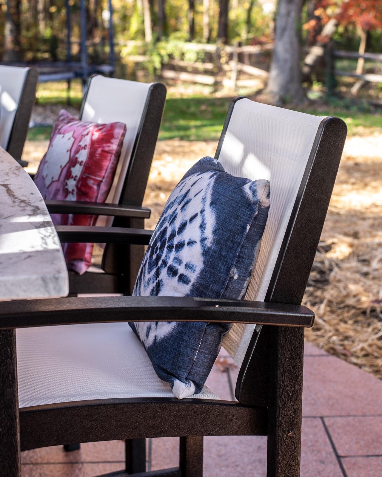 Seating arrangements in the backyard