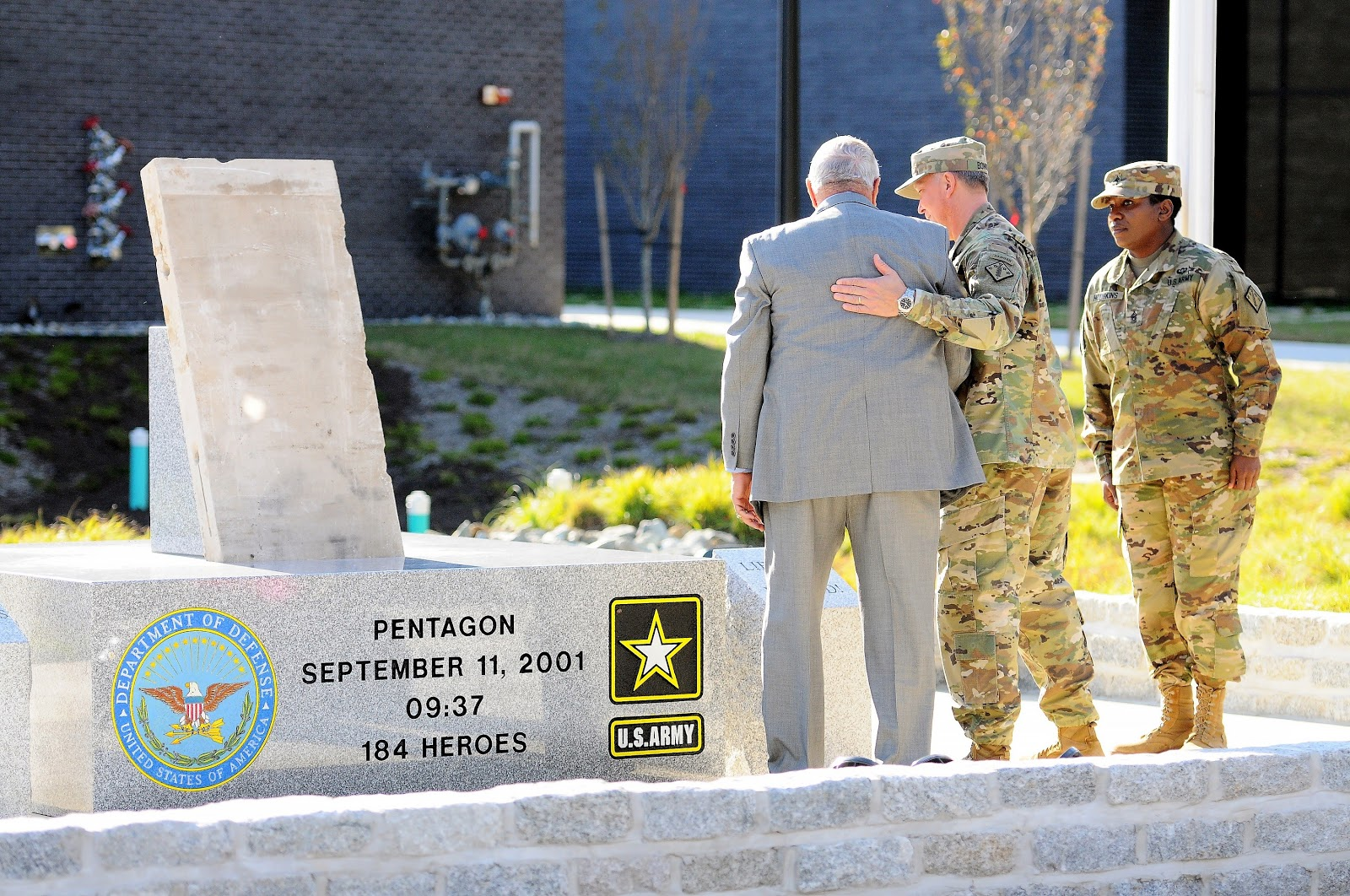 New Pentagon Memorial Unveiled At Aberdeen Proving Ground