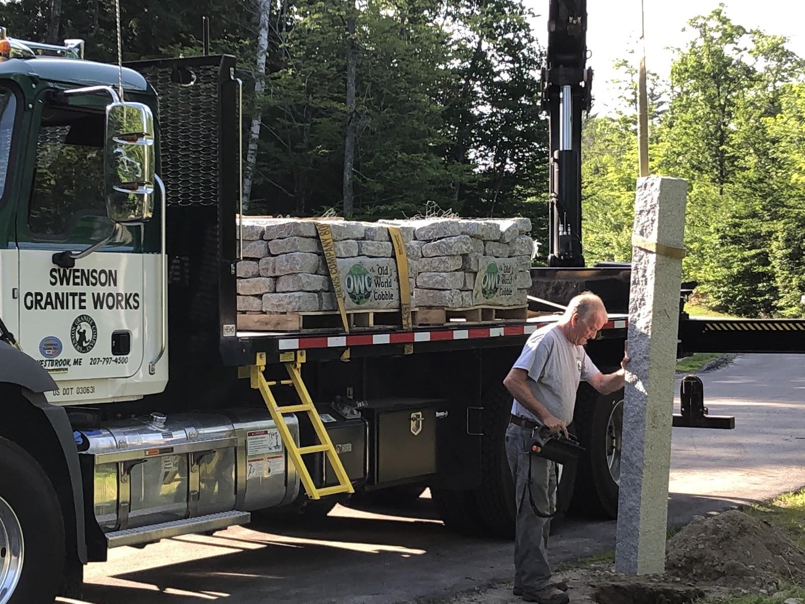 Installation of granite mailbox post