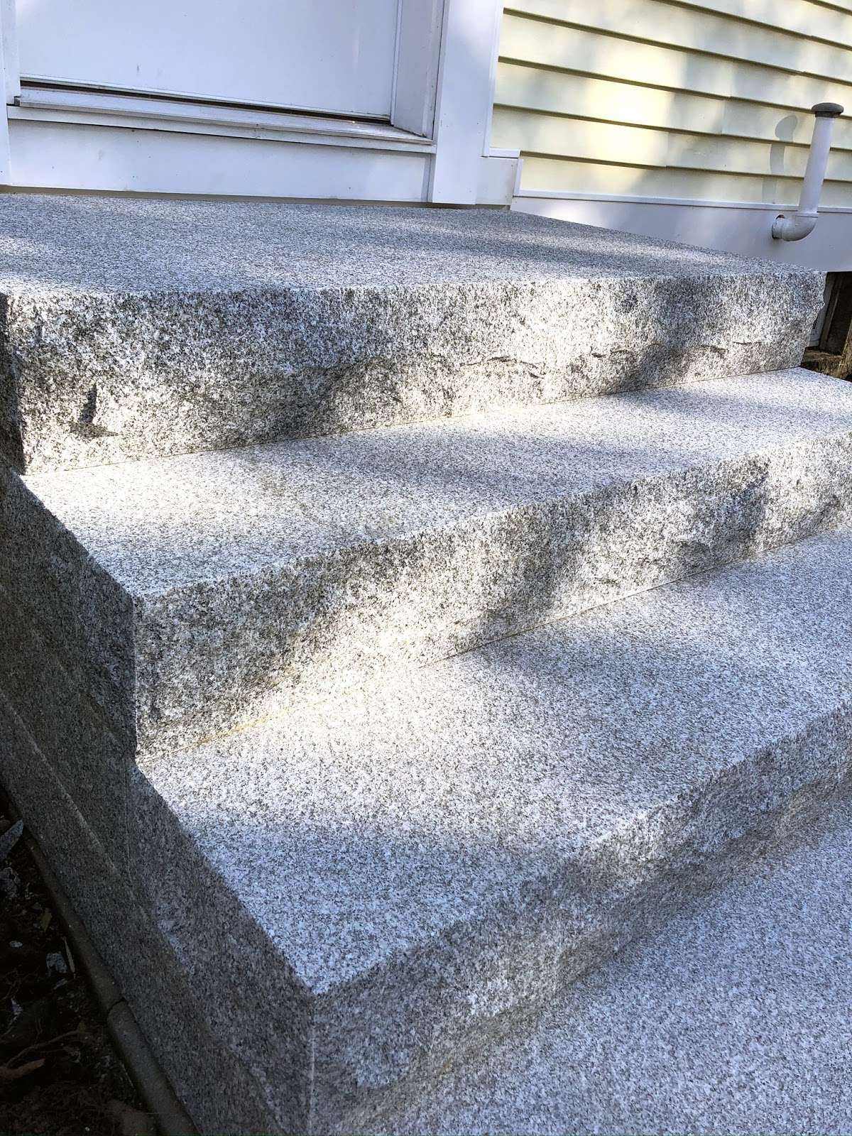 A set of granite steps from Swenson Granite Works