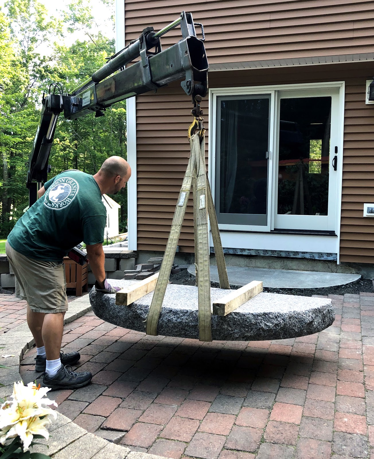 Installing a set of Swenson Granite Works radius steps