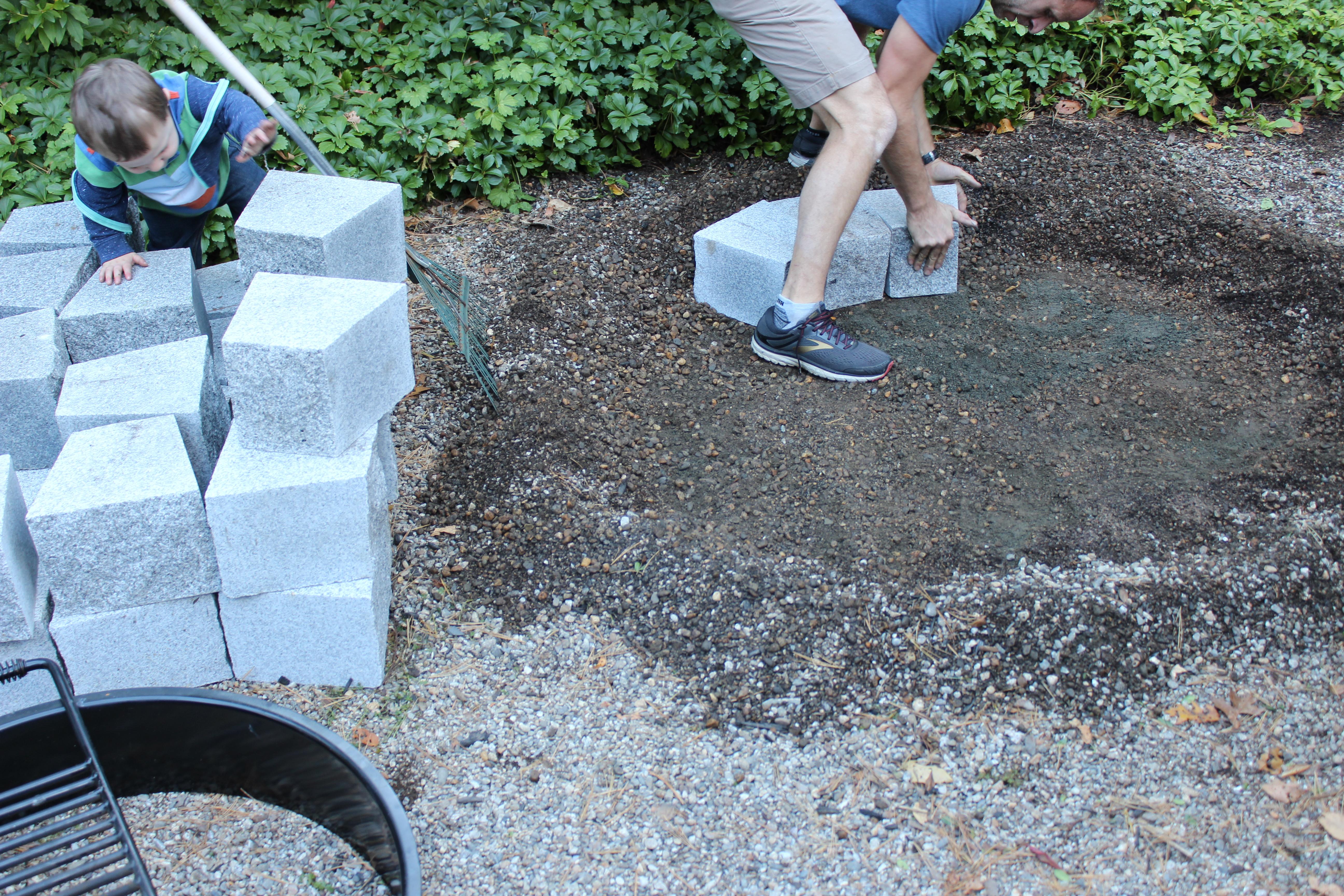 Woodbury Gray DIY Firepit  Install 8