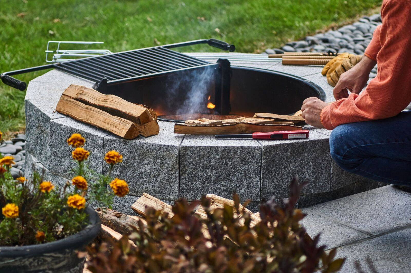 Build A Durable Granite Fire Pit Perfect For Any Outdoor
